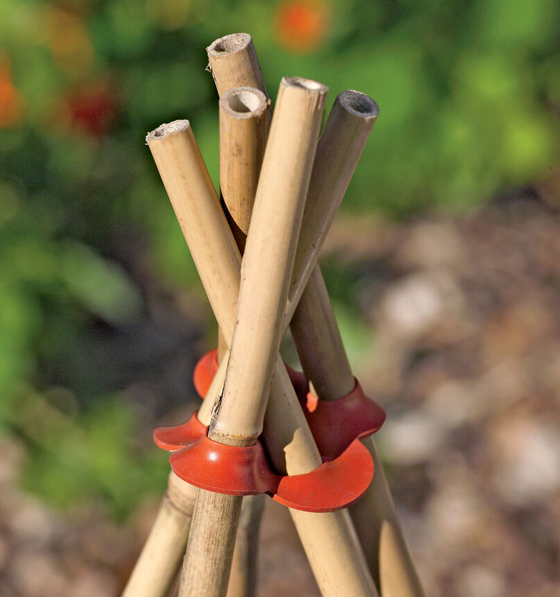 plastic connectors for making bamboo teepees