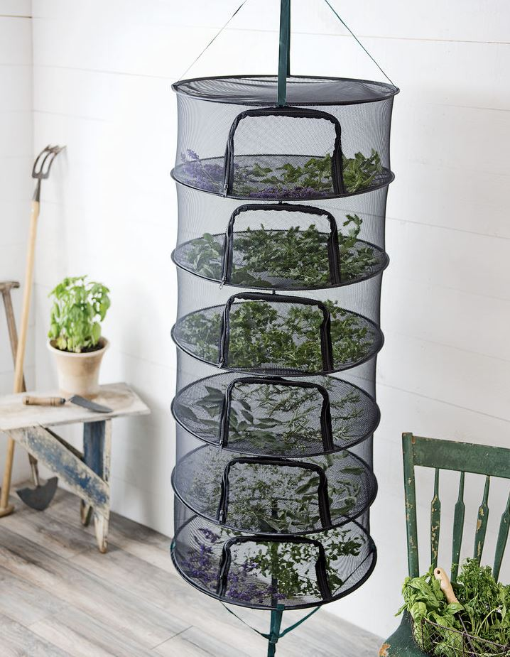 herb drying rack also works for gladiolus corms
