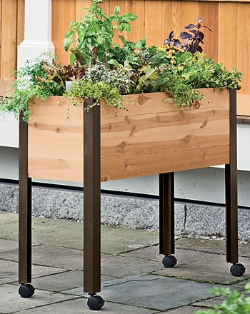 Herb Garden Designs With Plant Lists, How To Make A Raised Herb Garden Planter